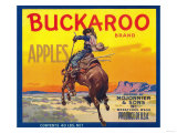Buckaroo Apple Label - Wenatchee  WA