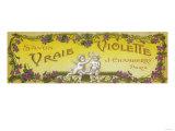 Vraie Violette Soap Label - Paris  France