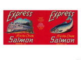 Express Salmon Can Label - San Francisco  CA