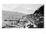 Aerial View of the City and Harbor - Ketchikan  AK