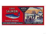 Sledge Salmon Can Label - San Francisco  CA