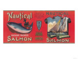 Nautical Salmon Can Label - Bellingham  WA