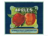 Spinner Fruit Apple Label - Yakima  WA