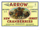 Arrow Brand Cranberry Label