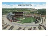 Aerial View of New Milwaukee County Stadium - Milwaukee  WI