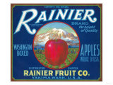 Rainier Apple Label - Yakima  WA