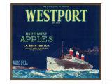 Westport Apple Label - Yakima  WA