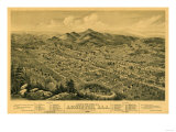 Anniston  Alabama - Panoramic Map