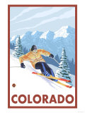 Downhill Snow Skier - Colorado