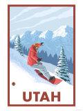 Snowboarder Scene - Utah