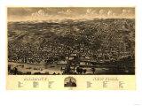 Albany  New York - Panoramic Map