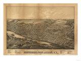Amsterdam  New York - Panoramic Map