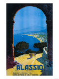 Alassio  Italy - West Italian Riviera Travel Poster - Alassio  Italy