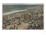 Asbury Park  NJ - Bathing Scene from Boardwalk