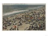 Asbury Park  NJ - Bathing Scene from Boardwalk