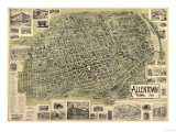 Allentown  Pennsylvania - Panoramic Map