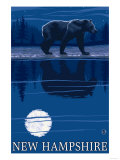 New Hampshire - Bear in the Moonlight
