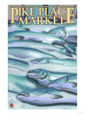 Seattle  Washington - Fish on Ice at Pike Place Market