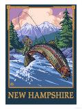New Hampshire - Angler Fisherman Scene