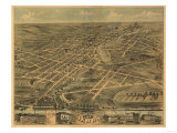 Akron  Ohio - Panoramic Map - Akron  OH