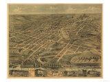 Akron  Ohio - Panoramic Map - Akron  OH