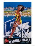 Apuania  Italy - Massa Marina Travel Poster