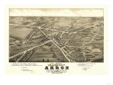 Akron  Ohio - Panoramic Map No 1 - Akron  OH