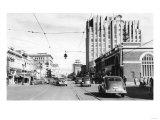 Yakima  WA Main Street View Photograph - Yakima  WA