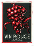 Vin Rouge De Table Wine Label - Europe