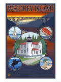 Whidbey Island  Washington - Scenic Travel Poster