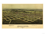 Ardmore  Oklahoma - Panoramic Map - Ardmore  OK