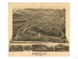 Asheville  North Carolina - Panoramic Map