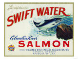 Astoria  Oregon - Thompson's Swift Water Salmon Label