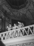 Her Majesty Queen Elizabeth  Princesses Elizabeth and Princess Margaret at the Theatre