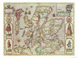 The Kingdome of Scotland  Engraved by Jodocus Hondius