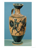 Attic Style Lekythos  Depicting Hercules and the Amazons