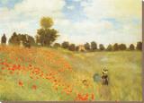 Les coquelicots, 1886  Tableau sur toile par Claude Monet
