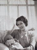 Her Royal Highness the Princess Elizabeth Holding Her Son Prince Charles  England