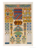 Egyptian Style  Plate II from Polychrome Ornament  Engraved by Pralon  Published Paris  1869