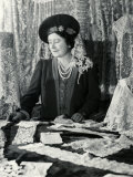 Her Majesty Queen Elizabeth the Queen Mother Looking at Lace