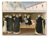 The Death of St Dominic  from the Predella Panel of the Coronation of the Virgin  c1430-32