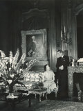 The Duke and the Duchess of Windsor in Paul Louis Weiller's House  Paris  France  1949