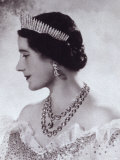 Portrait with Tiara of Her Majesty Queen Elizabeth  the Queen Mother
