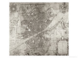 Map of Florence  1584