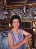 Queen Elizabeth II at Buckingham Palace  London  England
