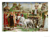 Triumph of Minerva: March  from the Room of the Months  Chariot and the Group of Savants  c1467-70