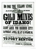 Handbill Advertising Steamer Voyages to the Gold Mines of Idaho  1865
