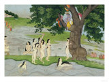Krishna Steals the Clothes of Gopies  from the Bhagavata Purana  Kangra  Himachal Pradesh  1780