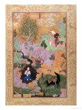 Khusrau Sees Shirin Bathing in a Stream  from the Khamsa of Nizami  1539-43