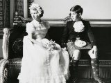 Princess Anne and Prince Andrew as Children at a Wedding  England